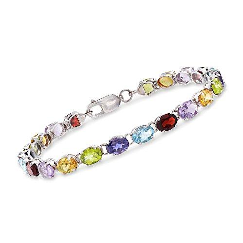 Ross-Simons 16.00 ct. t.w. Multi-Stone Link Bracelet in Sterling Silver