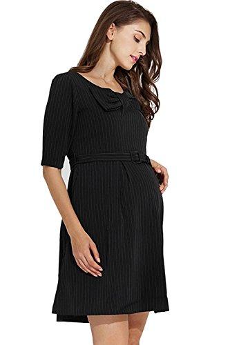 6 way maternity dress black - 3