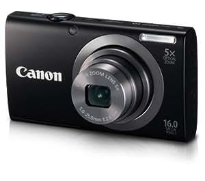 """Canon PowerShot A2300 - Cámara compacta de 16 Mp (pantalla de 2.7"""", zoom óptico 5x, estabilizador de imagen óptico) color rojo"""
