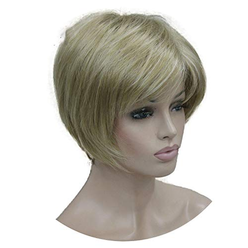 Short Layered Blonde Thick Fluffy Full Synthetic Wig Heat,L16-613,6inches