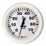 Faria Beede Instruments - Faria Dress White 4'' Tachometer 7000 Rpm Gas ''Product Category: Boat Outfitting/Gauges''