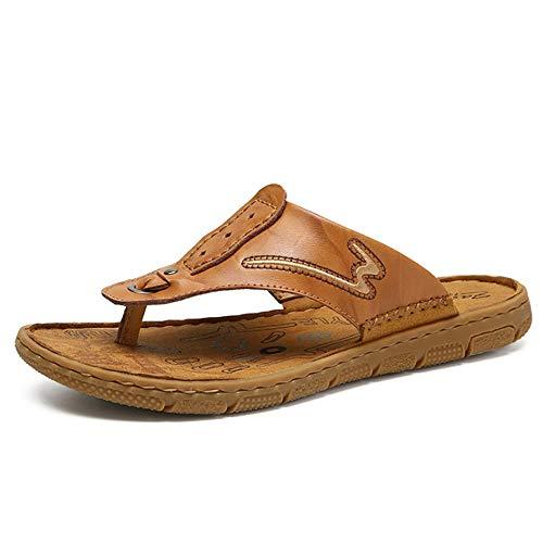 Zapatillas Hombres Zapatillas Marrón De De De Color EU Respirables del 3 Wangcui 1 Verano Los Negro Playa tamaño De 39 Ocio Deslizador Pantuflas Antideslizantes IF4dPwqx