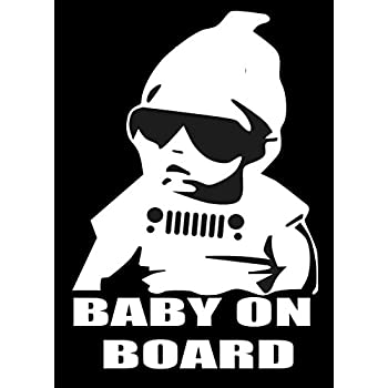 amazon sixtytwo24 jeep baby on board 5 decal white sticker Black Ops Edition Jeep Wrangler sixtytwo24 jeep baby on board 5 decal white sticker funny jeep