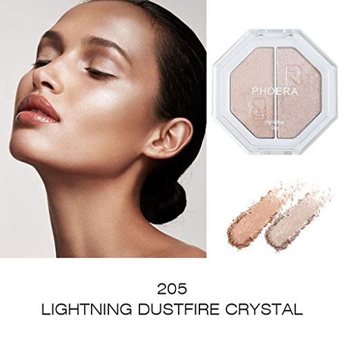 (Yu2d  PHOERA Two-Tone Highlighter Make Up Shimmer Cream Face Highlight Eyeshadow(Multicolor D) )