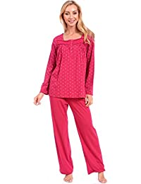 Patricia Women's Jersey Knit Long Sleeve Nighty and PJ Sets