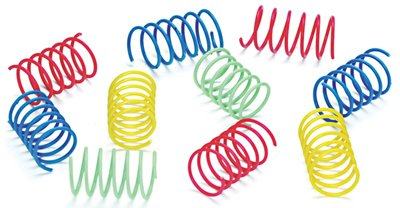 Eth Colorful Springs Cat Toy 10pk