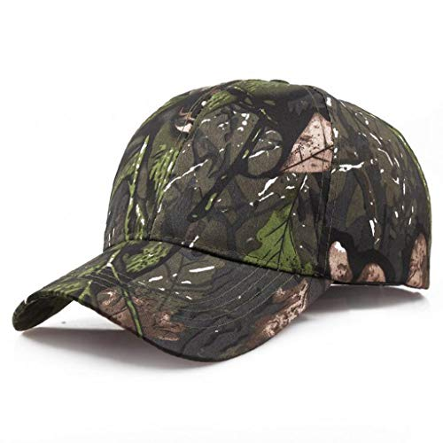 Unisex Summer Outdoors Camouflage Baseball-Cap Classic Adjustable Trucker Dad-Hat UV Protection Sunhat (Camouflage B) by Cealu (Image #4)