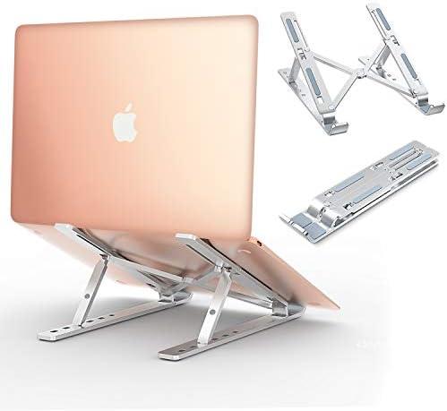 """Babacom Soporte Portátil, Aluminio Ventilado Refrigeración Soporte Ordenador Portátil Plegable, Adjustable Laptop Stand, Ligero Soporte Mesa para Macbook DELL XPS, HP, PC y Otros 10-15.6"""" Portatiles"""