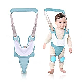 Baby Walking Harness Assistance, Adjustable Multifunction & Breathable Walker Helper Belt to Learn Toddlers to Walk with Safety, 8+ Months Baby, Comes with Crawling Knee Pads and Separable Bib.
