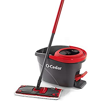 O-Cedar UltraMax EasyWring Microfiber Flat Spin Mop & Bucket Floor Cleaning System
