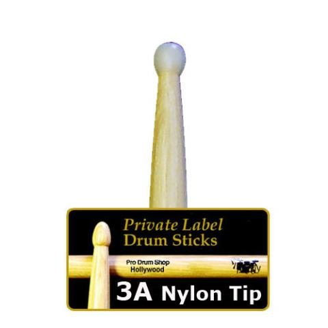 Pro Drum Shop Private Label Sticks - Model: 3A - Nylon Tip
