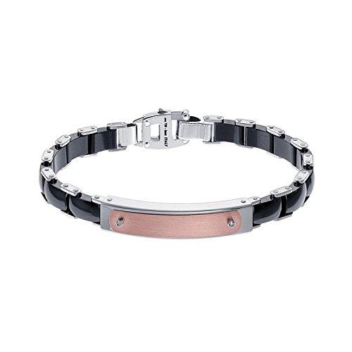 Bracelet Zancan Ceramik Steel kxb019r-n acier