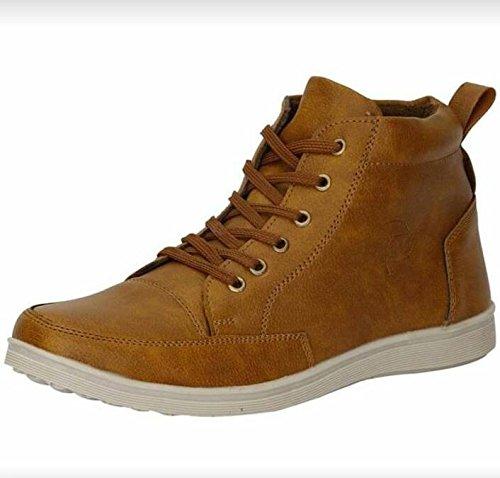 High Top Sneakers Brown, Tan at Amazon