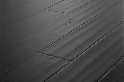 AMERIQUE Distressed Hand-Scraped Bamboo Smoke Dark Flooring, 25.80 sq. ft., Jacobean (One Carton)