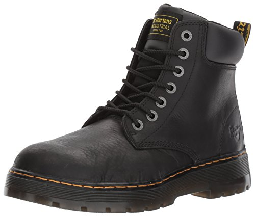 (Dr. Martens Men's Winch 7-eye Lace-up Steel-toe Black Boot, 11 M UK / 12 D(M) US )