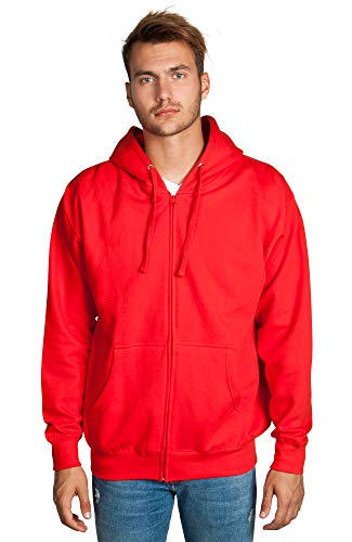 Zeratova Stylish Full Zip Up Hoodie for Men's Boys- Pullover Active EcoSmart Jacket with Long Sleeves, Fleece Lining & Pockets - Zippered Sweatshirt for Sports & Casual Grab Outfits - -