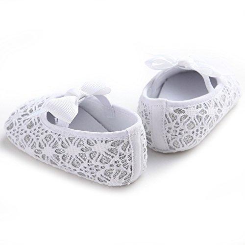 Pueri Sandalia del bebé Para los primeros pasos Zapatillas agradables Zapatillas de las niñas de la primavera y el verano Plata