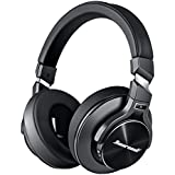 Hiearcool L2 Active Noise Cancelling Headphones Bluetooth Headphones with Microphone Hi-Fi Stereo Bass Wireless Headphones Over Ear,Airplane Adapter & Carrying Case for All 3.5 mm Jack Devices - Black