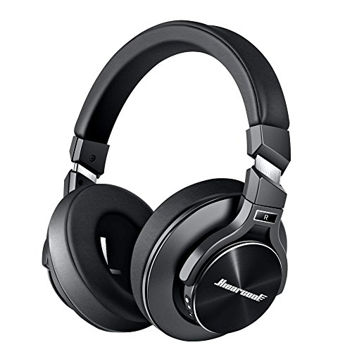 Noise Free Headphones - Hiearcool Active Noise Cancelling Headphones [2019 Upgrade] Bluetooth Headphones Over Ear, Deep Bass Wireless Headphones with Mic, Fast Charge 40hr Playtime Protein Earpads for Travel TV PC -Black