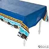 Police Party Tablecloth Plastic Table Cover - 54W x 108L (Two-Pack)