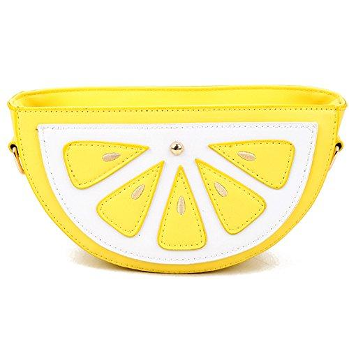 Uniuooi - Bolso cruzados de Piel Sintética para mujer Yellow Lemon
