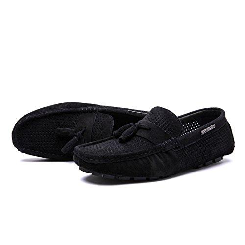 Tda Slip On Casual Slip-on Gamuza Penny Loafers Botas De Malla Transpirable Low-top Mocasines Negro
