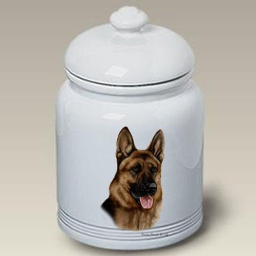German Shepherd - Tamara Burnett Treat Jars (Shepherd Jar Treat)