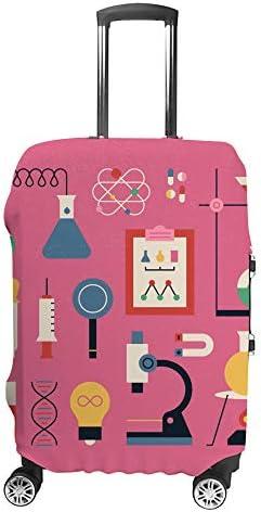 スーツケースカバー 化学 科学実験 伸縮素材 キャリーバッグ お荷物カバ 保護 傷や汚れから守る ジッパー 水洗える 旅行 出張 S/M/L/XLサイズ