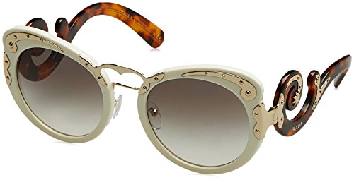 Prada Women's Embellished Sunglasses, Ivory/Grey, One - White Prada Glasses