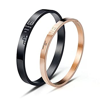 - 41S4K1D9kIL - Wolentty His and Hers Matching Couples Bracelets Stainless Steel Love Cross Couple Bracelet for Men Women Gifts
