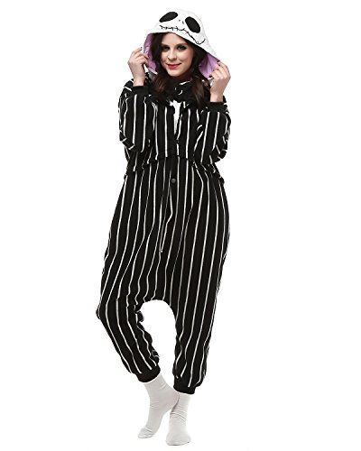 [Women Mens's Animal Kigurumi Skull Oneise Costumes Halloween Partywear Warm Outfit Small] (Animal Costumes Coupon Code)