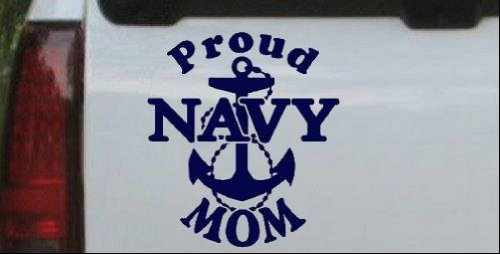 Cheap  Proud Navy Mom Anchor Military Car Window Wall Laptop Decal Sticker --..