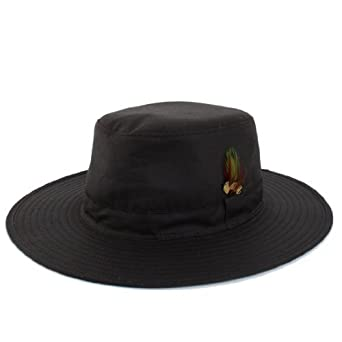 Countrywear Mens Aussie Sun Hat Explorer Australian Traditional Bush Fishing  Hunting Walking Shooting 100% Wax Cotton Brown Medium 58cm  Amazon.co.uk   ... 5aacdbf04b18