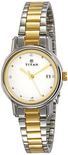 Titan analog White Dial Women #39;s Watch NM2572BM01/NN2572BM01