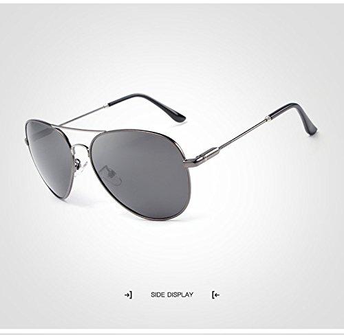de para Gafas Hombre JCH de Marca para Gray de Oro Luxury Retro Men Polarized Aviation Gafas Sol conducción Sol Sunglass Gafas de Hombres diseñador q818w04xP