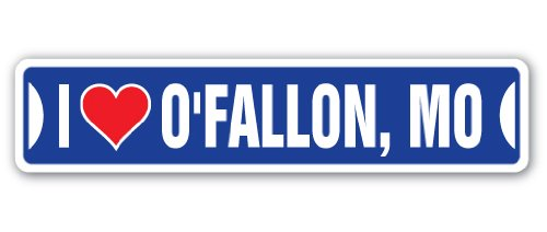 I Love O'Fallon, Missouri Street Decal mo City State us Wall Road décor Gift -