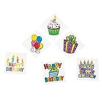72 Happy Birthday Fun Temporaty Tattoos Party Favors