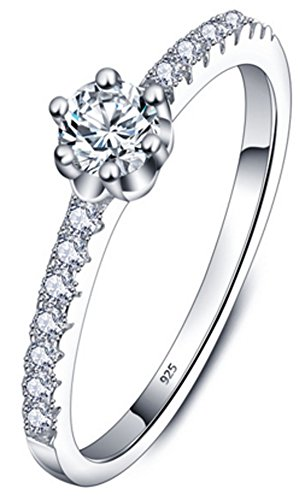Richy-Glory - 925-Sterling-Silver Jewelry White Cubic Zirconia Rings (SIZE : 6)