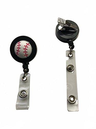 Baseball Softball College MLB Badge Reel Holder Retractable Alligator -