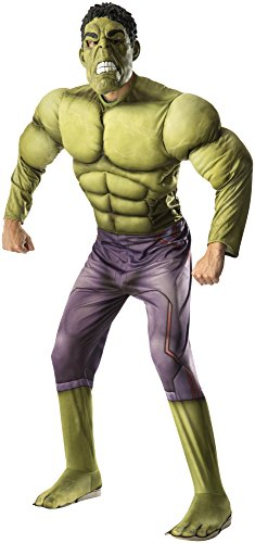 Rubie's Costume Co Men's Avengers 2 Age Of Ultron Adult Deluxe Hulk Costume, Green, X-Large - Avenger Costumes For Adults