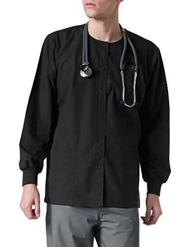 Core By Maevn Unisex Round Neck Solid Scrub Jacket Large (Solid Round Neck Scrub Jackets)