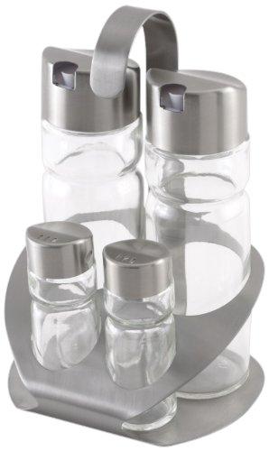 Monix Sabor - Vinagreras de acero inoxidable y cristal, 2 unidades: Amazon.es: Hogar