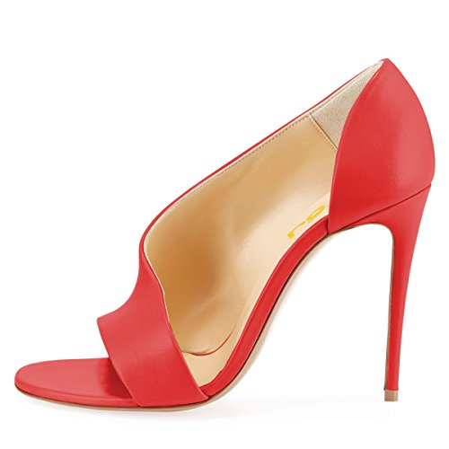 Naiset Prom Sandaalit Fsj 4 Korkokengät Seksikäs Punainen Meitä Osapuoli Pumput Nro D'orsay Stiletto Avoin Kengät 15 Matta pHqqgr7zcd