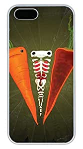 iPhone 5 5S Case Skull And Carrots Funny Lovely Best Cool Customize iPhone 5S Cover White