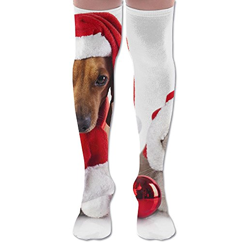 Holiday Stripes Address Label (Training Socks3D Printing Graffiti Knee High Socks Adult Unisex Holidays Christmas Dogs Stockings Socks Long Colorful For Man And Woman Leg Warmers Various Sizes Workout)