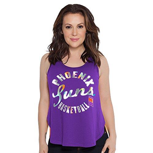 Touch by Alyssa Milano NBA Phoenix Suns Fair Catch Tank, X-Large, Purple