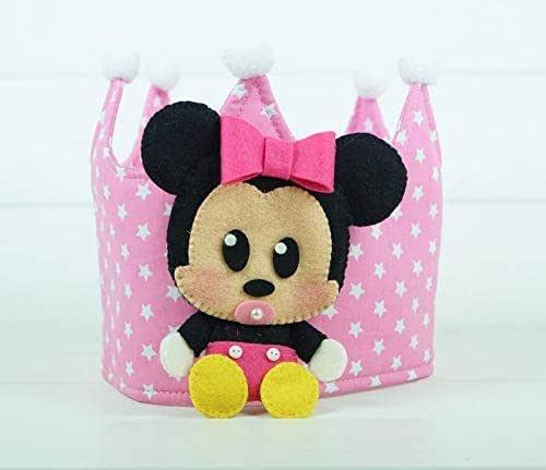 Corona Cumpleaños Tela Minnie: Amazon.es: Handmade