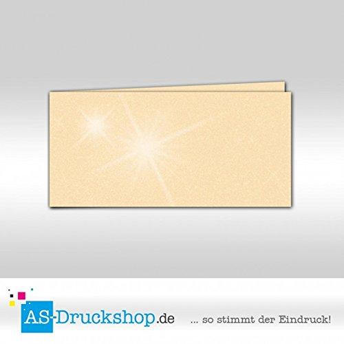 Faltkarte - Candle light light light metallic 50 Stück DIN Lang quer B0794XRDBR   Vorzugspreis  78c567