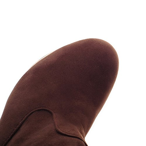 A&N Womens Platform Stiletto Pull-On Frosted Boots Brown my374fND
