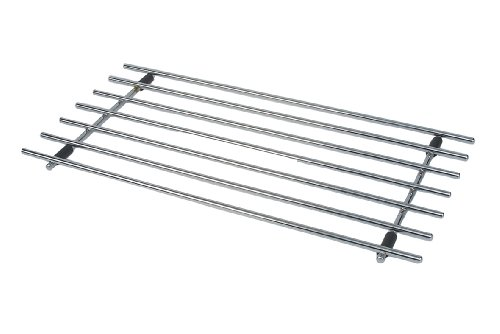 'Faringdon 50 X 24cm Chrome Rectangular Trivet' from the web at 'https://images-na.ssl-images-amazon.com/images/I/41S4P2CVjPL.jpg'